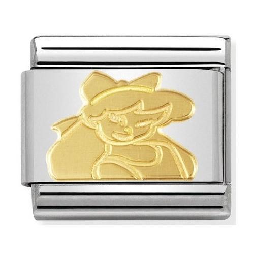 Nomination - Link 18K Gold 'Bimba' 030149/15