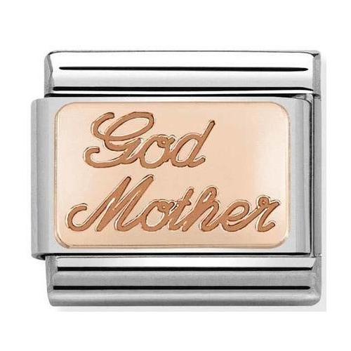 Nomination - Link 9K Rose Gold 'Godmother' 430108/17