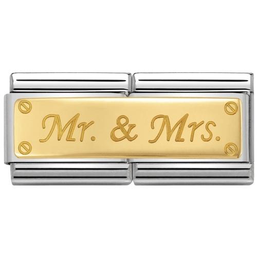 Nomination -  Double Link 18K Gold 'Mr. & Mrs.' 030710/25
