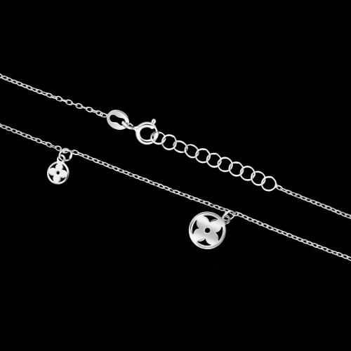 Srebrny naszyjnik celebrytka - Marokańskie Koniczyny pr.925