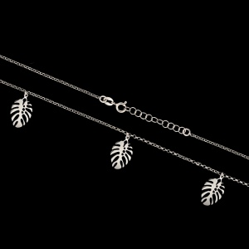 Srebrny naszyjnik - Liście Monstery pr.925