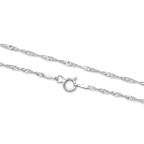 Srebrny łańcuszek - Singapur 42cm pr.925