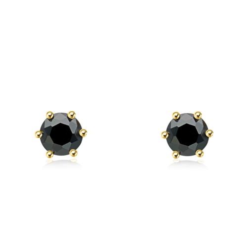 Pozłacane kolczyki z cyrkoniami - Oczko pr.925