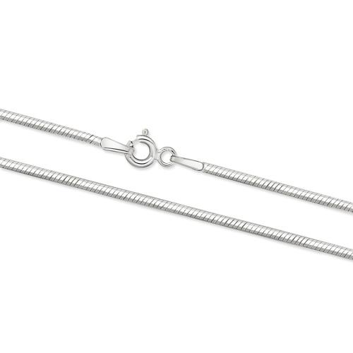 Srebrny łańcuszek - Żmijka 70cm pr.925