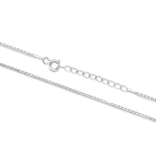 Srebrny łańcuszek - Kostka 41-45cm pr.925