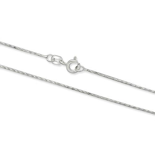Srebrny łańcuszek Żmijka 50cm pr. 925