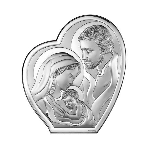 Srebrny obrazek - Święta Rodzina