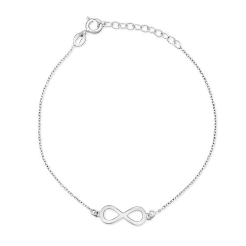 Srebrna bransoletka celebrytka - Nieskończoność pr.925