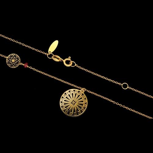 Pozłacany naszyjnik - Ażury boho pr.925