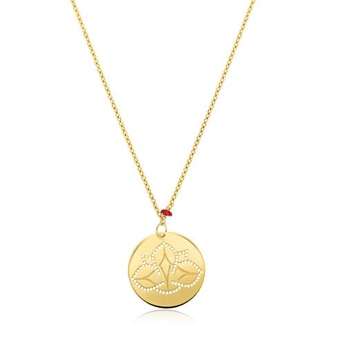 Pozłacany naszyjnik - Kwiat lotosu pr.925