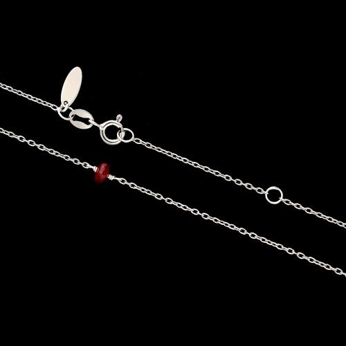 Srebrny naszyjnik z rubinem pr.925