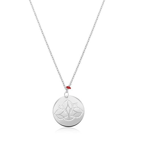 Srebrny naszyjnik - Kwiat lotosu pr.925