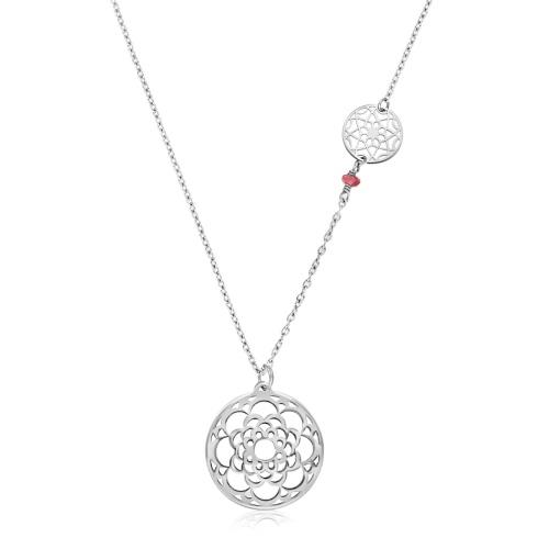 Srebrny naszyjnik - Ażury boho pr.925