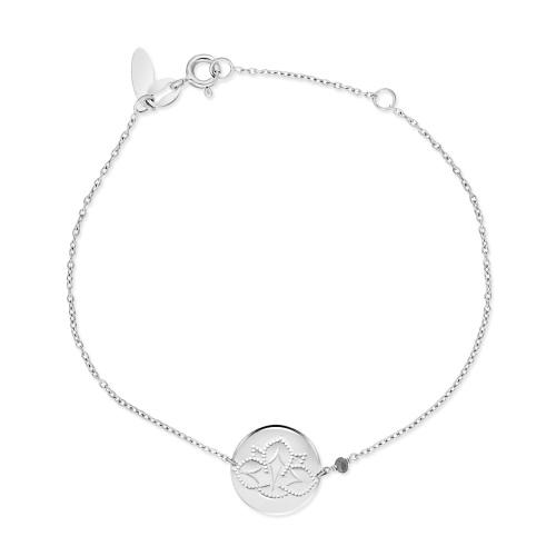 Srebrna bransoletka celebrytka - Kwiat lotosu pr.925