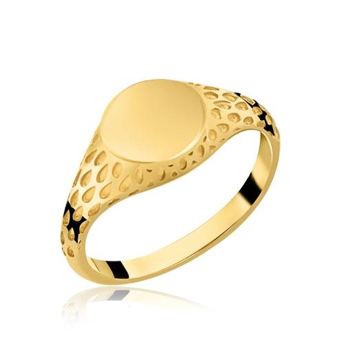 Pozłacany pierścionek pr.925