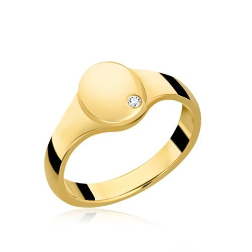 Pozłacany pierścionek z cyrkonią pr.925