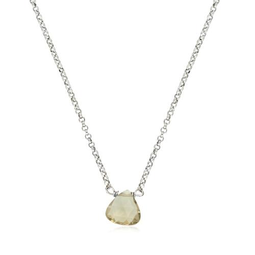 Srebrny naszyjnik z kryształem pr.925