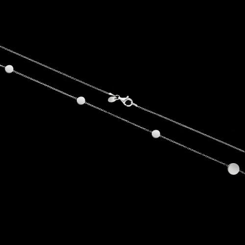 Srebrny naszyjnik - Monety 90cm pr.925
