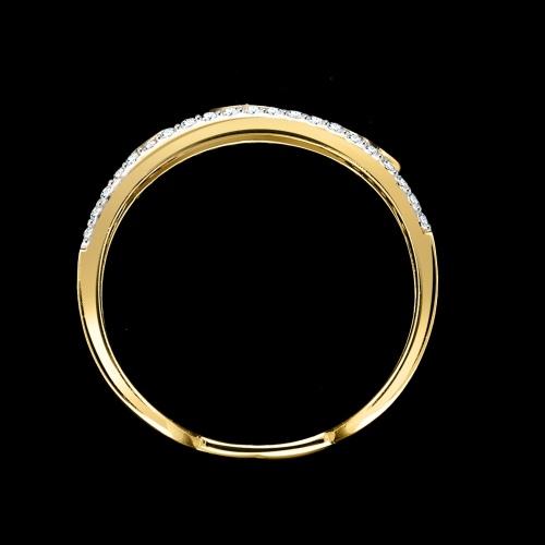 Złoty pierścionek z cyrkoniami - Marokańskie koniczyny pr.333