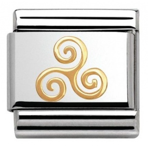 Nomination - Link 18K Gold Triskelion 030119/06