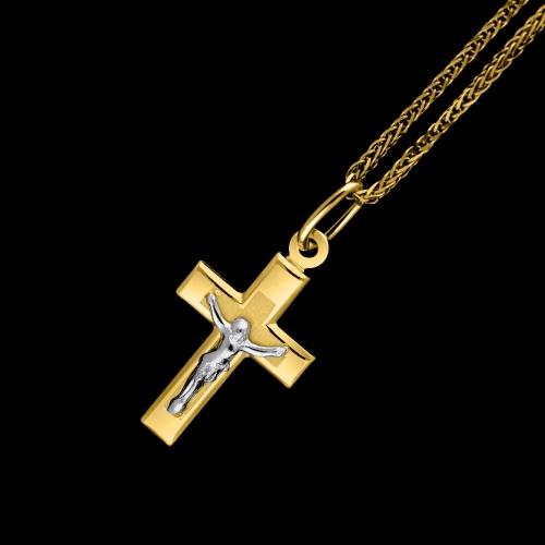 Złota zawieszka - Krzyżyk pr.585