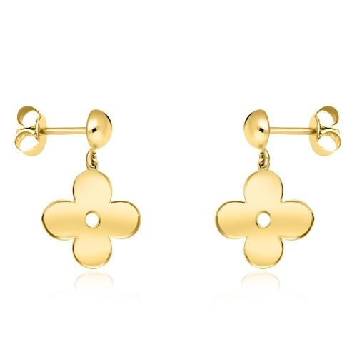 Złote kolczyki - Marokańskie koniczyny pr.333