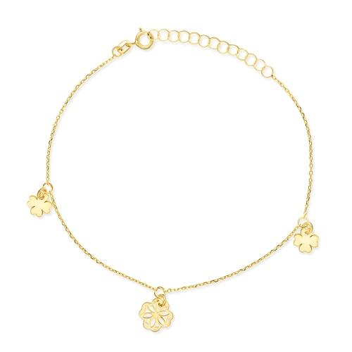 Złota bransoletka - Potrójne Szczęście pr.333
