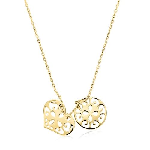 Złoty naszyjnik celebrytka - Ażury pr.585
