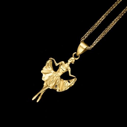 Złota zawieszka - Baletnica pr.585