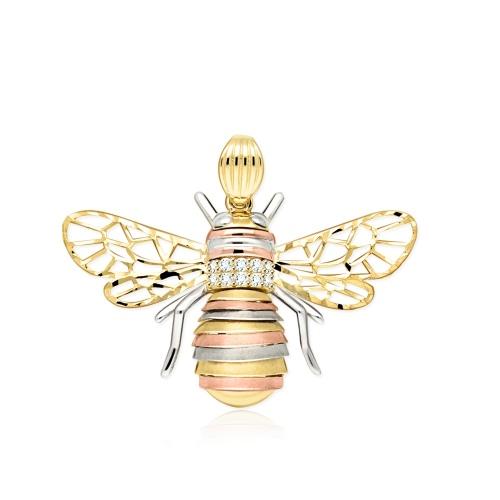 Złota zawieszka - Pszczoła pr.585