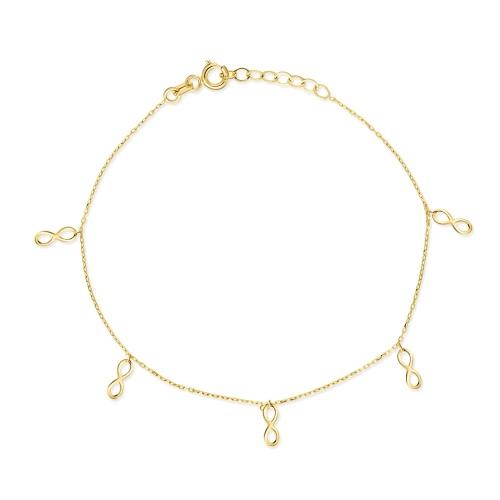 Złota bransoletka celebrytka - Nieskończoność pr.585