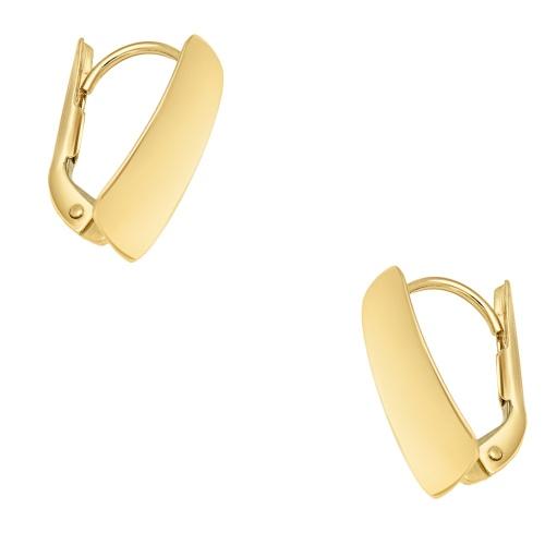 Złote kolczyki - Prostokąt pr.585