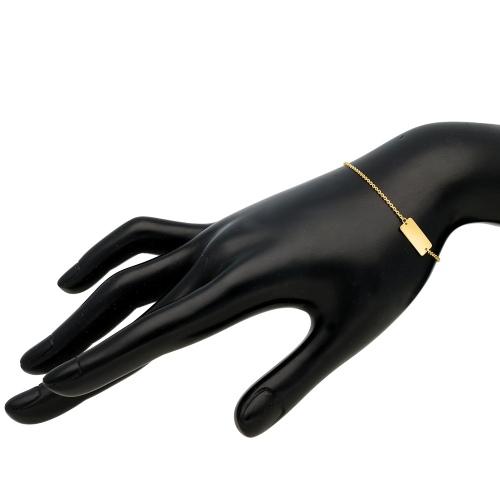 Złota bransoletka celebrytka - Blaszka pr.585