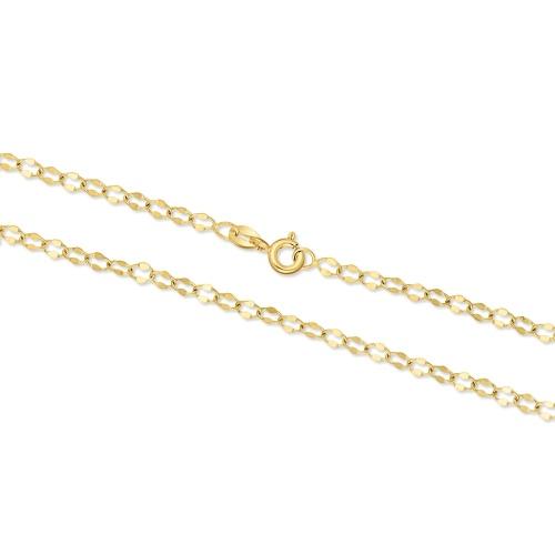 Złoty łańcuszek - Zdobiony Ankier 50cm pr.333