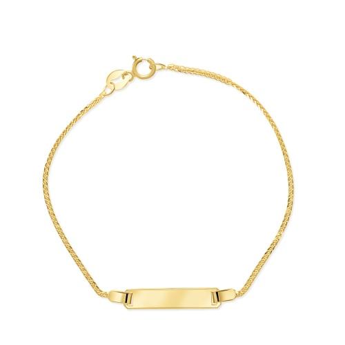 Złota bransoletka - Blaszka pr.333