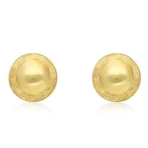 Złote kolczyki - Kulki 6mm pr.333