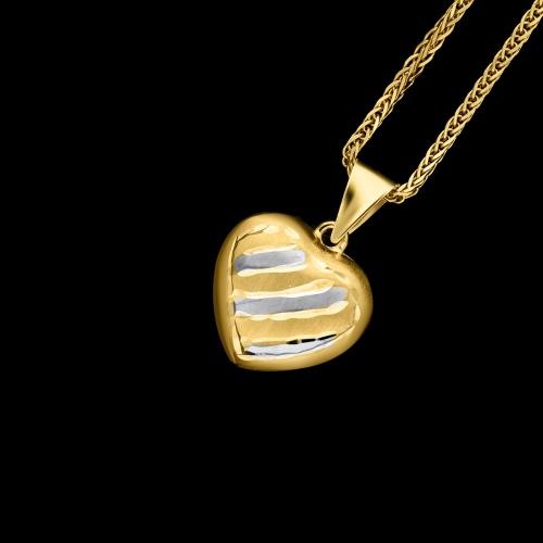Złota zawieszka - Serce pr.585