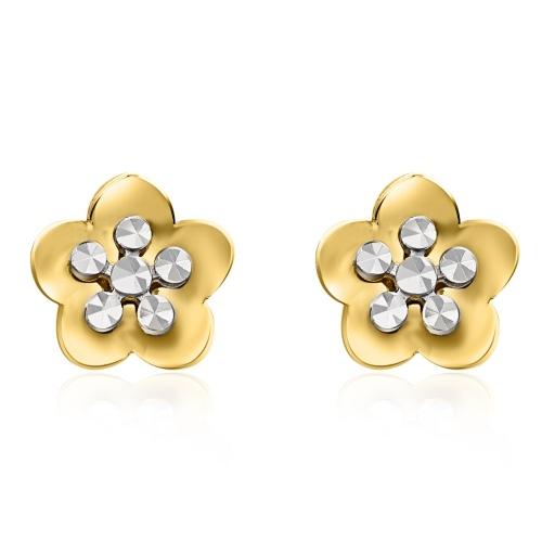 Złote kolczyki - Kwiatki pr.585