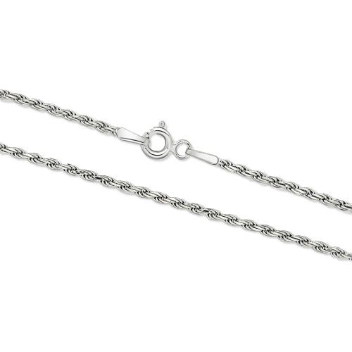 Srebrny łańcuszek - Kordel 45cm pr.925