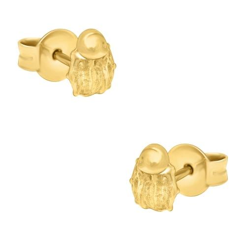 Złote kolczyki - Biedronki pr.585