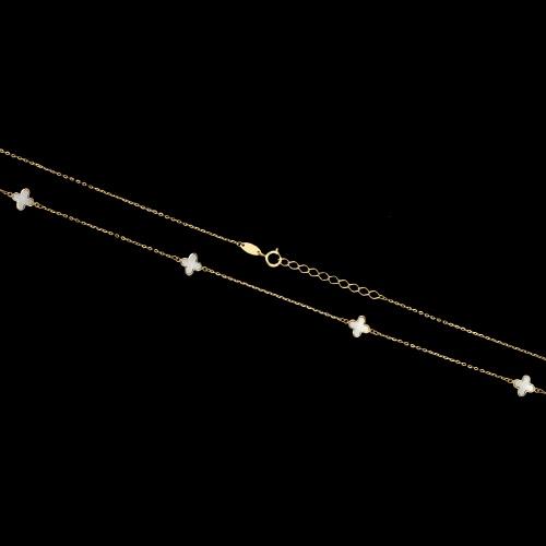 Złoty naszyjnik celebrytka - Marokańskie koniczyny pr.585