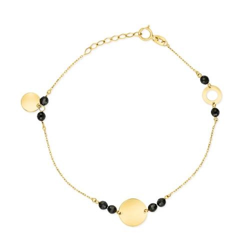 Złota bransoletka celebrytka - Monety pr.585