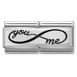 Nomination - Double Link 925 Silver 'You Me Infinity.' 330710/43