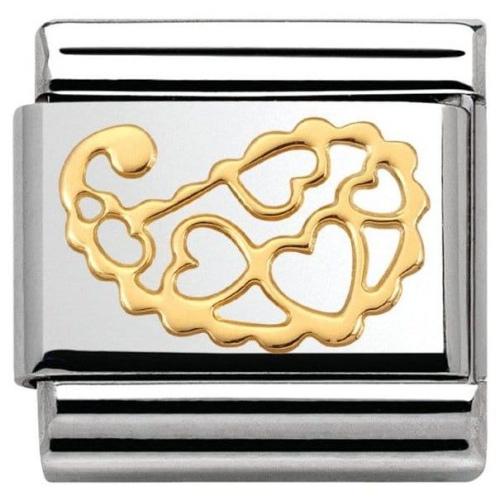 Nomination - Link 18K Gold 'Cashmere Hearts' 030158/15