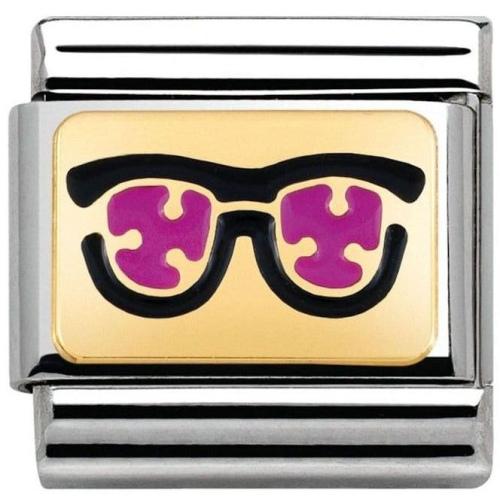 Nomination - Link 18K Różowe Okulary Emalia 030284/04