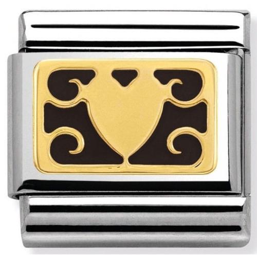 Nomination - Link 18K Gold 'Wzór Serca' 030280/24