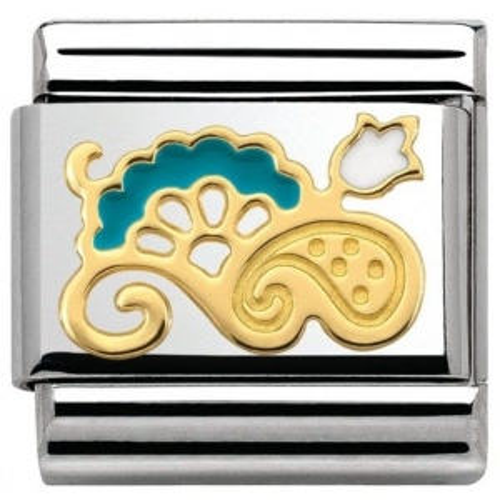 Nomination - Link 18K Gold 'Jasno Niebieski Bukiet' 030281/21