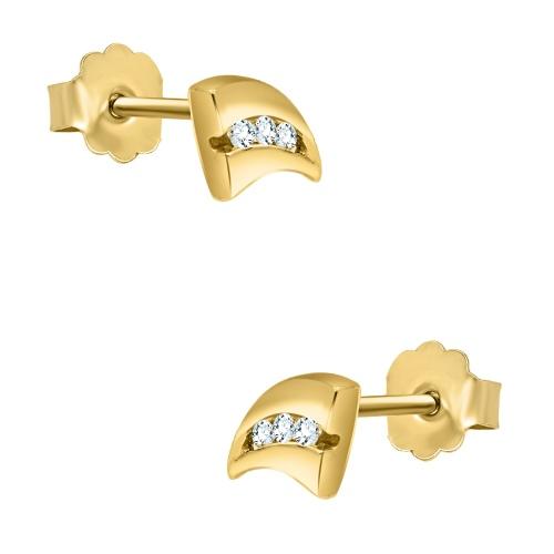 Złote kolczyki z cyrkoniami - pr.585