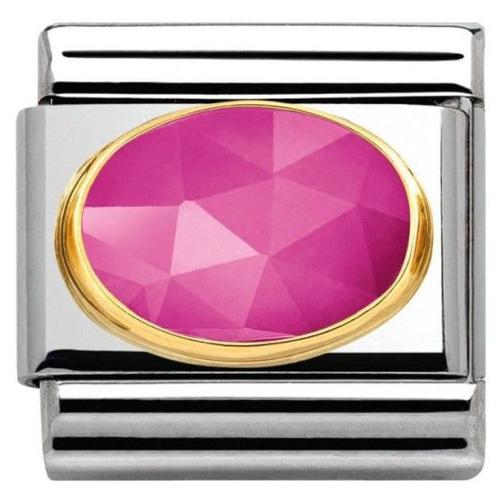 Nomination - Link 18K Gold 'Różowy Jadeit' 030515/08