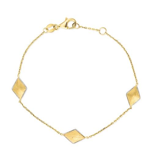Złota bransoletka - Romby pr.585